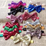 Rarelove Baby Girls Headband Red Bowknot Sequin