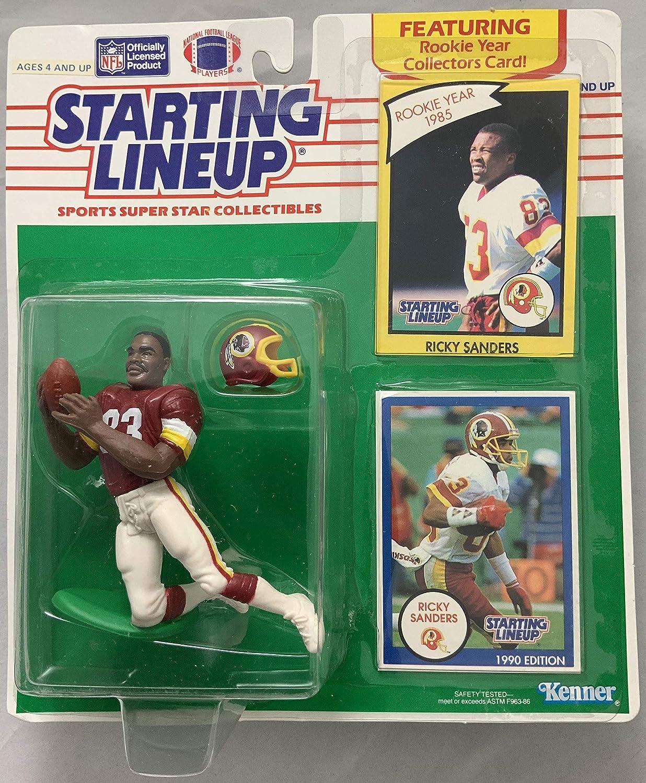 1990 KENNER STARTING LINEUP NFL RICKY SANDERS WASHINGTON REDSKINS MOC