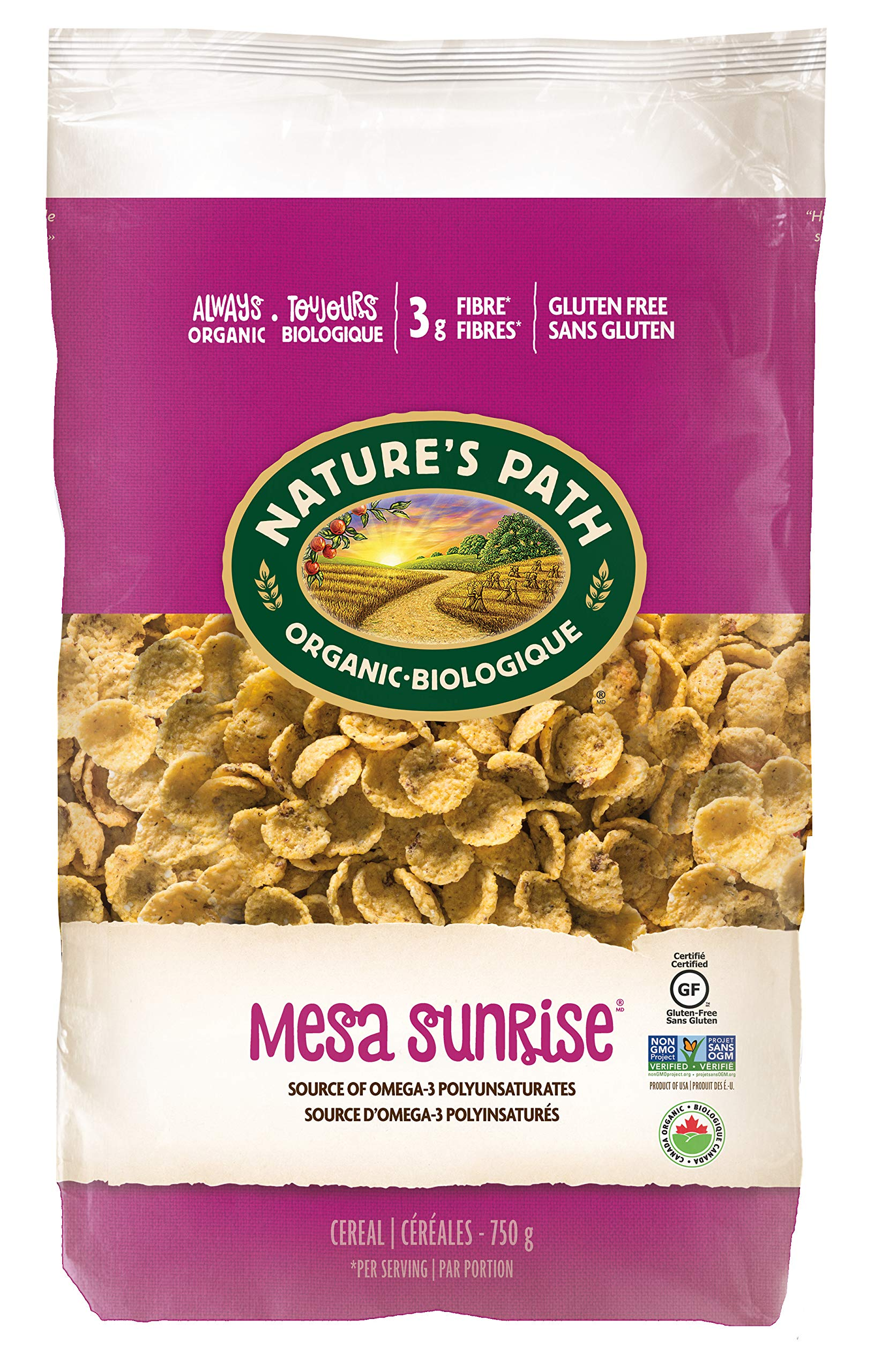Nature's Path Mesa Sunrise Cereal, Healthy, Organic & Gluten Free, 26.4 Ounce (Pack of 6) by Nature's Path