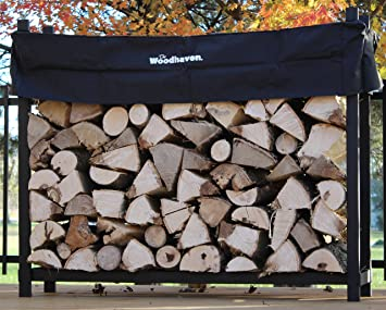 The Woodhaven 5 Foot Firewood Log Rack with Cover
