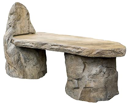 Enjoyable Garden Bench Basalt Stone Boulder Bench With Back Cast Stone Rustic Lounge Bench Outdoor Garden Patio Bench 3 Piece Hand Sculpted Rock Garden Bench Frankydiablos Diy Chair Ideas Frankydiabloscom
