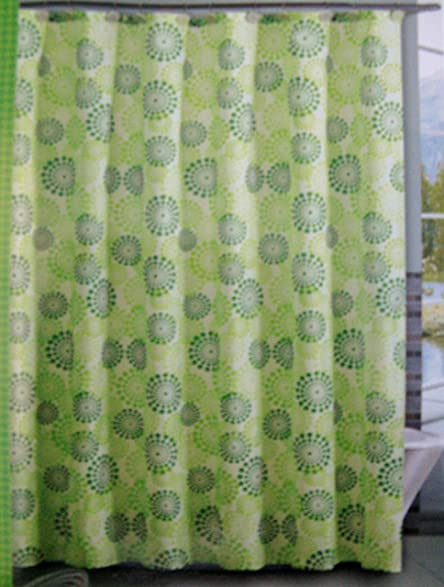 Victoria Classics Halo Dot Polyester Shower Curtain 72quot X