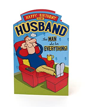 Image Unavailable Not Available For Colour Husband Birthday Card Funny