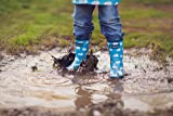 OAKI Kids Rubber Rain Boots Easy-On