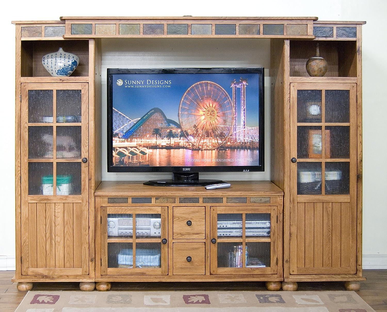 SUNNY Designs Sedona TV consola – (madera de roble), estilo rústico: Amazon.es: Electrónica