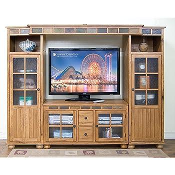 Amazon Com Sunny Designs Sedona 42 Quot Tv Stand In Rustic Oak Home Audio
