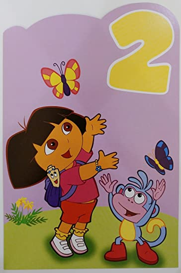 Amazon.com: Dora la Exploradora – Happy 2 nd cumpleaños ...