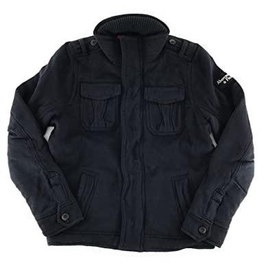 Abercrombie   Fitch Mens Wool Military Jacket X-Large Navy at Amazon ... 2f286733da2