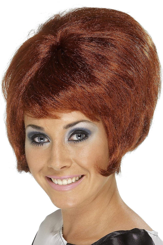 Amazon Smiffys Womens 60s Short Auburn Beehive Wig One Size