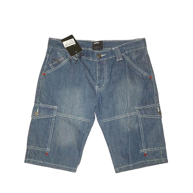 karburo - Pantalones Cortos - Shorts Vaquero para Hombre M ...