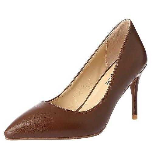 1fea4368d9c Zapatos de salón de tacón Medio de Mujer Sexy Classic Cerrado de MAYPIE 3  Pulgadas: Amazon.es: Zapatos y complementos