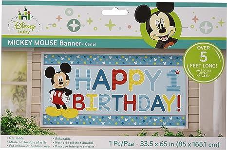 Amazon.com: Mickey Mouse 1er cumpleaños FBA_BB120247 ...