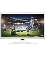 """LG 28TK41 Monitor TV 28"""" LED HD, DVB/T2/S2 0V-WZ, Ottimo per Camera da Letto, Bianco"""