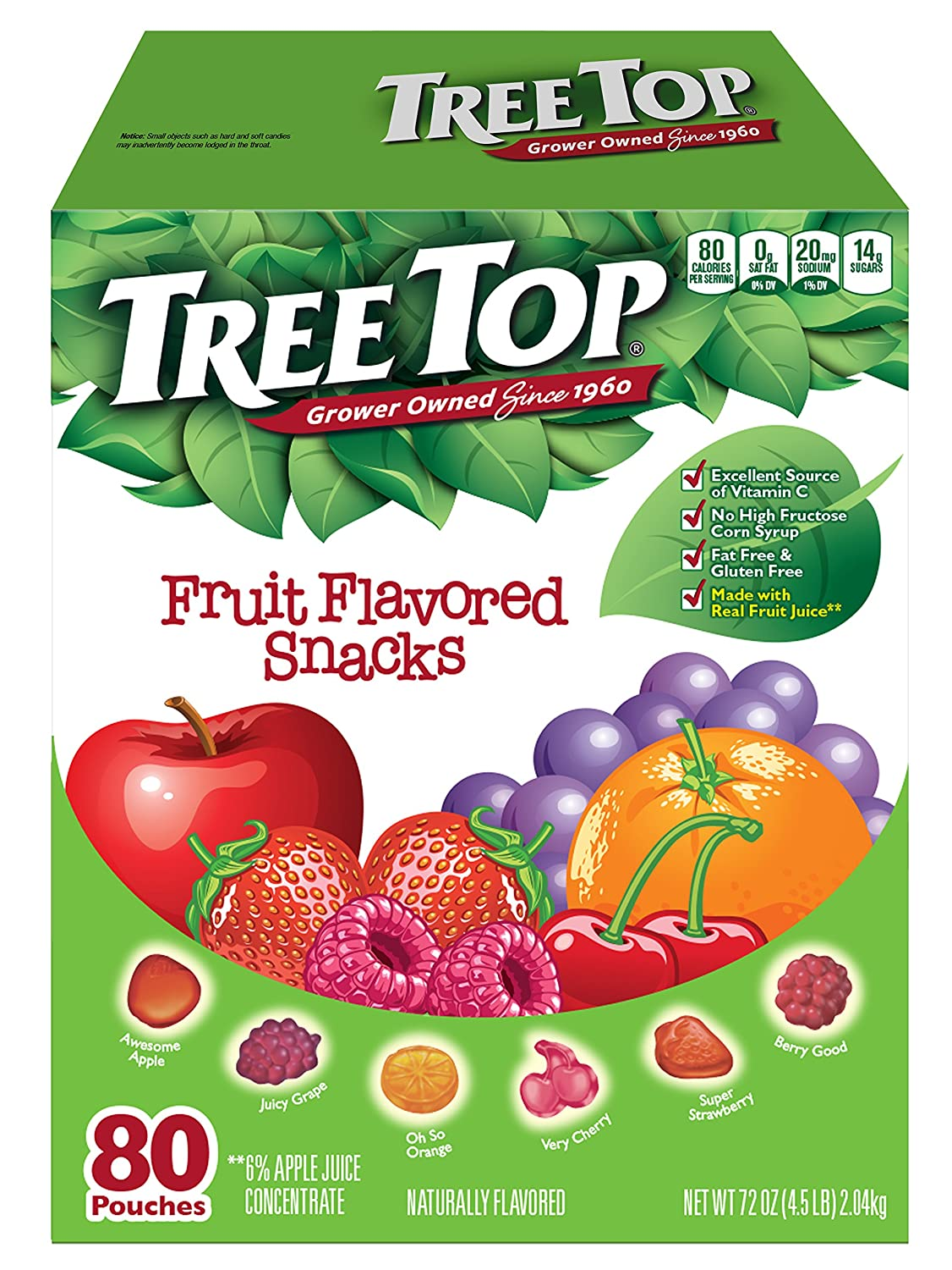 Amazon.com: Tree Top All Natural Fruit Snacks (80 Pouches)