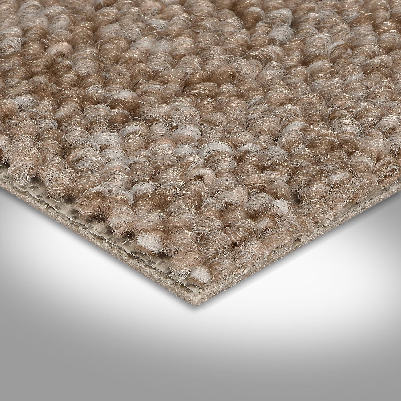 BODENMEISTER BM72392 Teppichboden Auslegware Meterware Schlinge grau hell 400 und 500 cm breit verschiedene L/ängen Variante 5 x 5 m