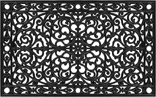 Calloway Mills AZ900222436 Gatsby Rubber Doormat, 24 x 36 , Black