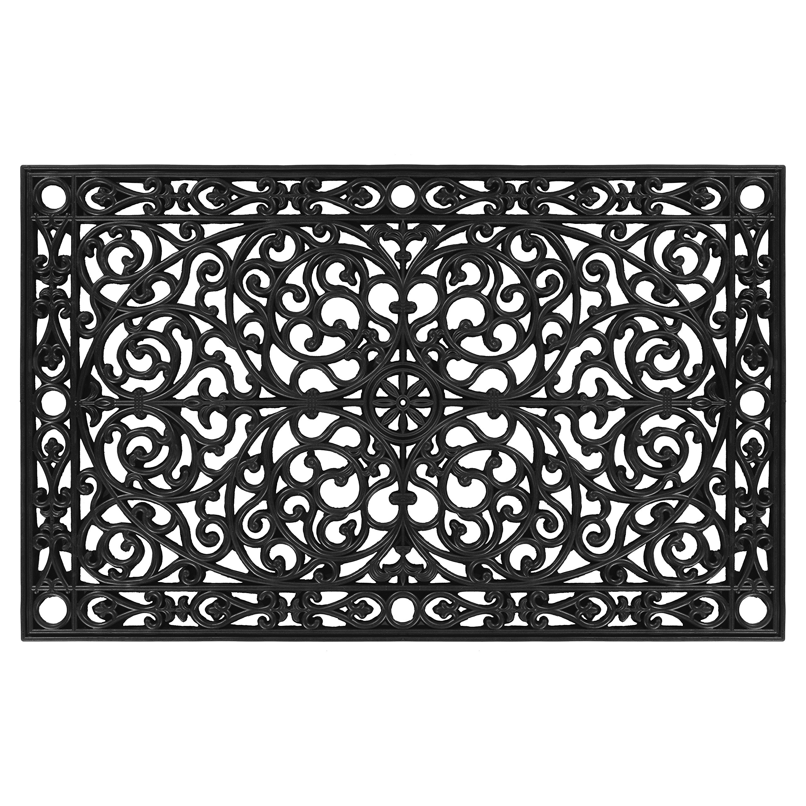 Home & More 900223048 Gatsby Doormat, 2'6'' x 4', Black