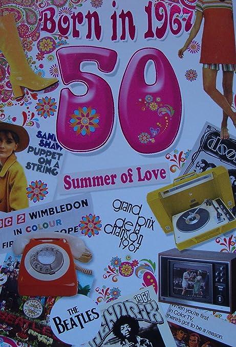 50th Birthday Card 1967 Year You Were Born Female