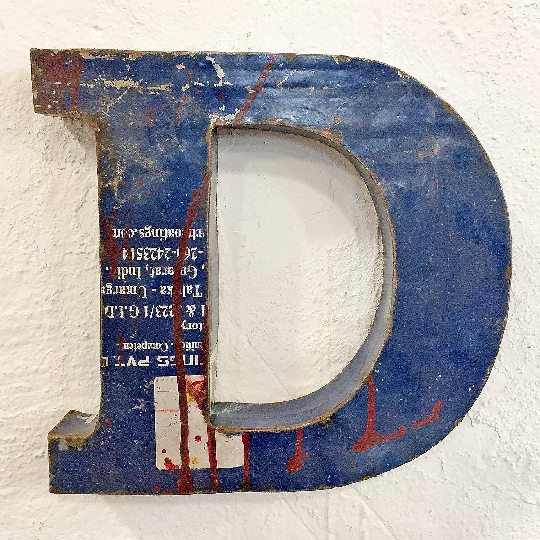 Loft Lettres en m/étal et Signes 3D en m/étal Vieilli Vintage Taille XL 31 cm