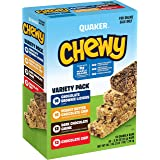 Quaker Chewy Granola Bars, Chocolate Lovers Variety Pack, 0.84oz Bars (58 Pack)