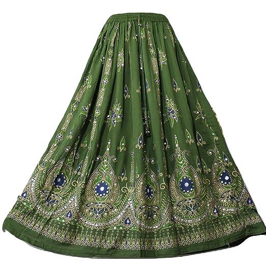 cd260394efc Doorwaytofashion Ladies Boho Hippie Gypsy Indian Sequin Party Casual Summer  Sundress Belly Dance Skirt 8 10 12 14 16 18 20 22 24 UK Seller  Amazon.co.uk   ...