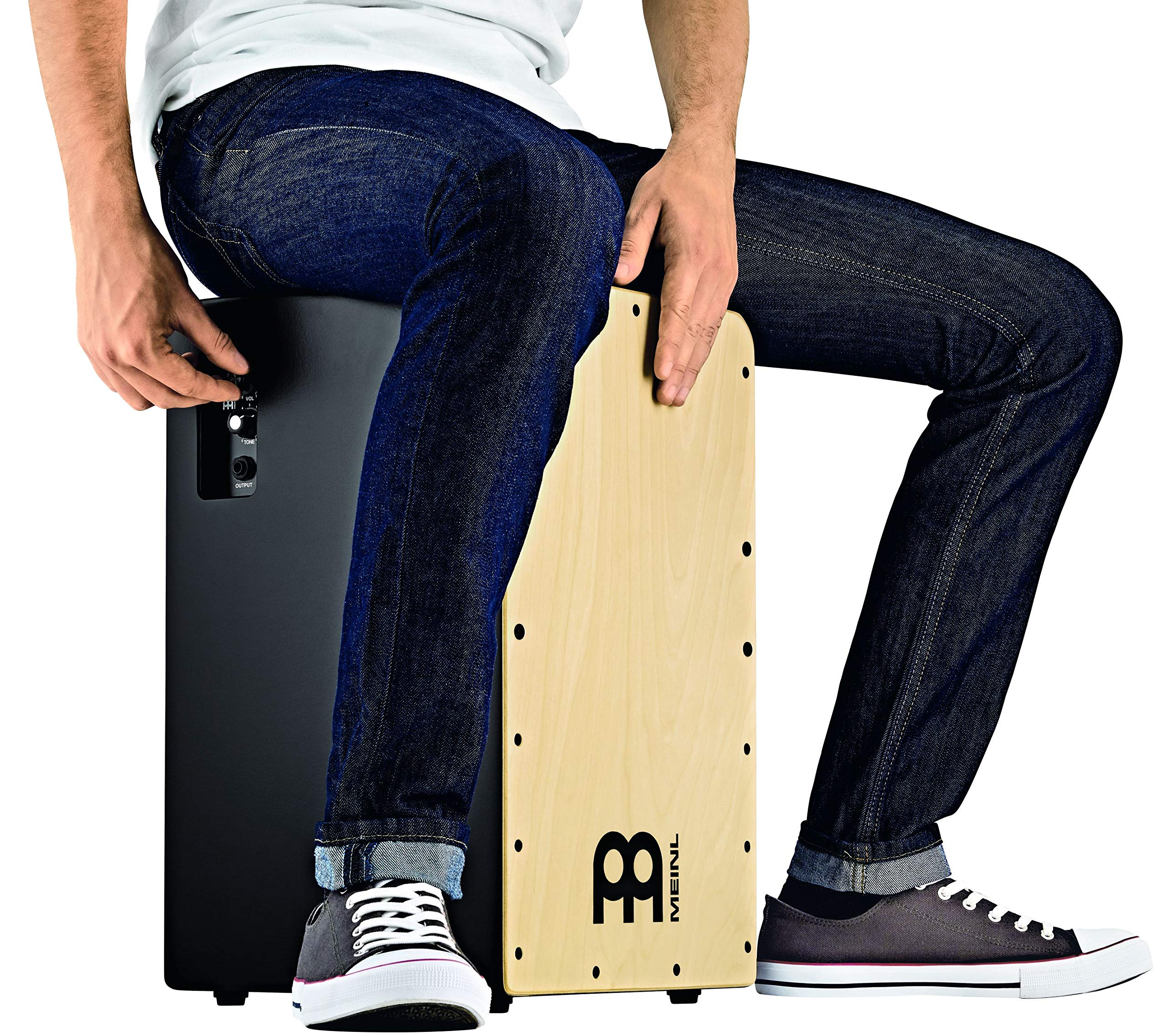 Meinl Pickup Cajon Box Drum with Internal Snares - MADE IN EUROPE - Baltic Birch Wood, Snarecraft Series, 2-YEAR WARRANTY (PSC100B) by Meinl Percussion (Image #7)