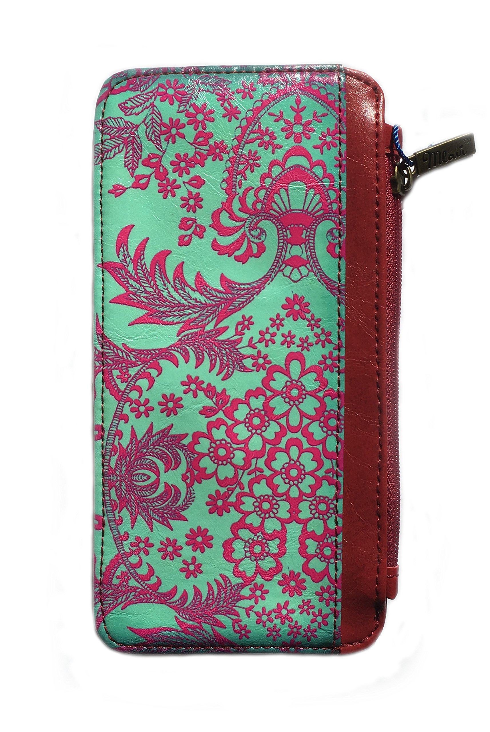 Mexican Textile Style Vegan Leather Cardholder