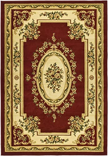 Safavieh Lyndhurst Collection LNH218C Traditional European Red and Ivory Rectangle Area Rug 8 11 x 12