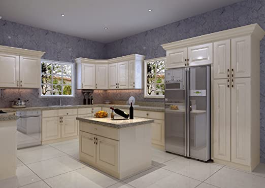 Amazon Com Kitchen Cabinets 10x10 Avalon Ashen Kitchen Dining