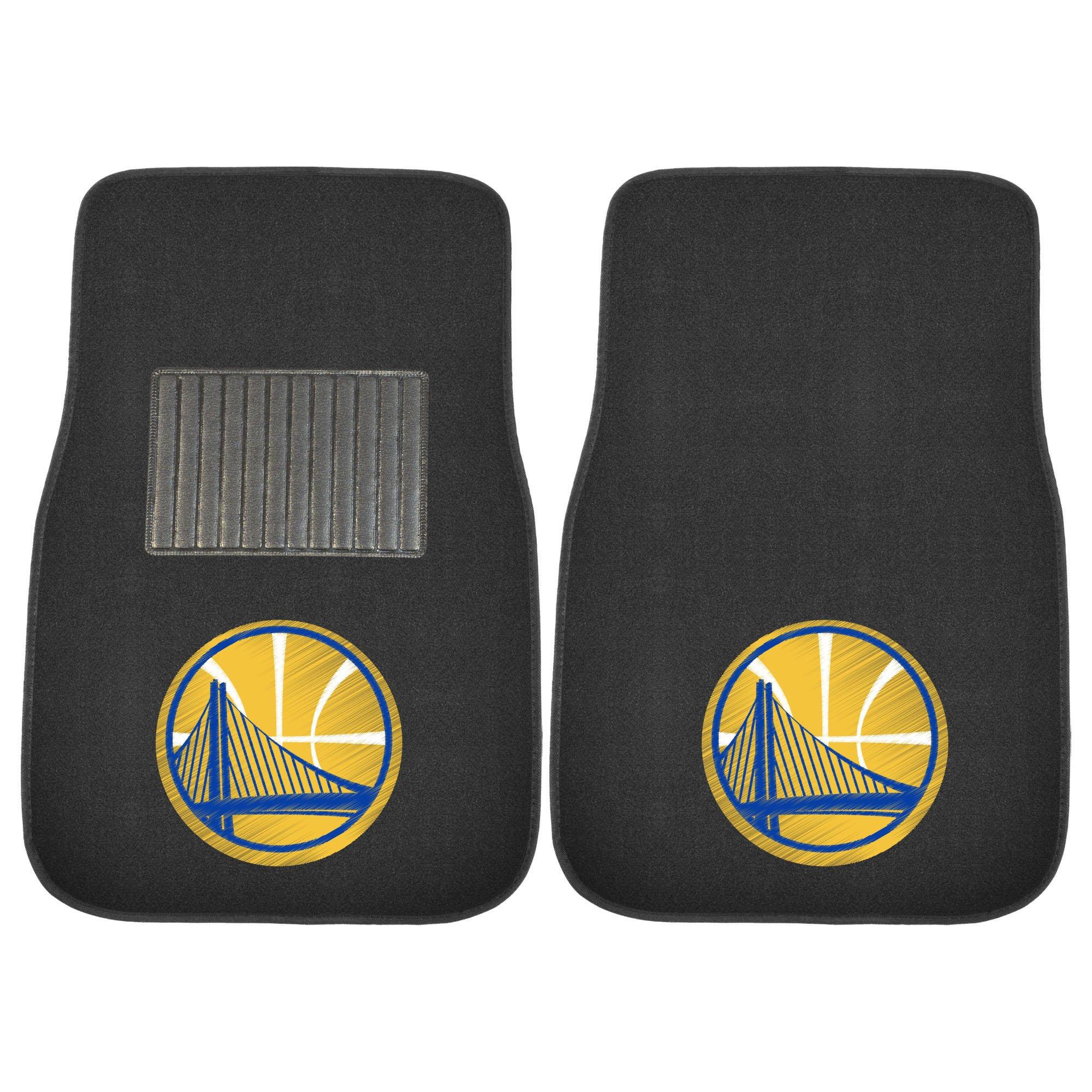 Fanmats 20321 NBA - Golden State Warriors Embroidered Car Mat, Team Color, 17''x25.5''