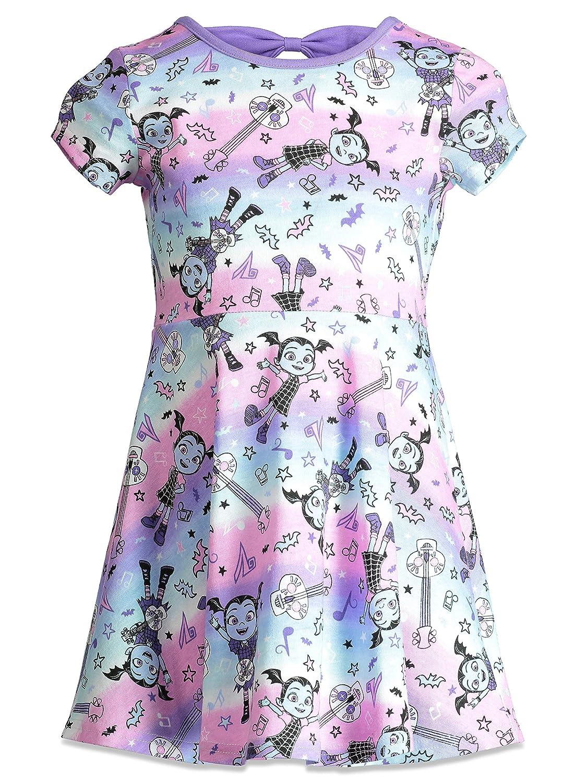 Disney Vampirina Little Girls All-Over Guitar Print Ruffle Dress ...