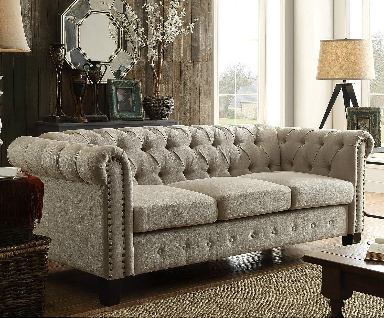Amazon Com Dg Casa Southampton Tufted Living Room Chesterfield Sofa