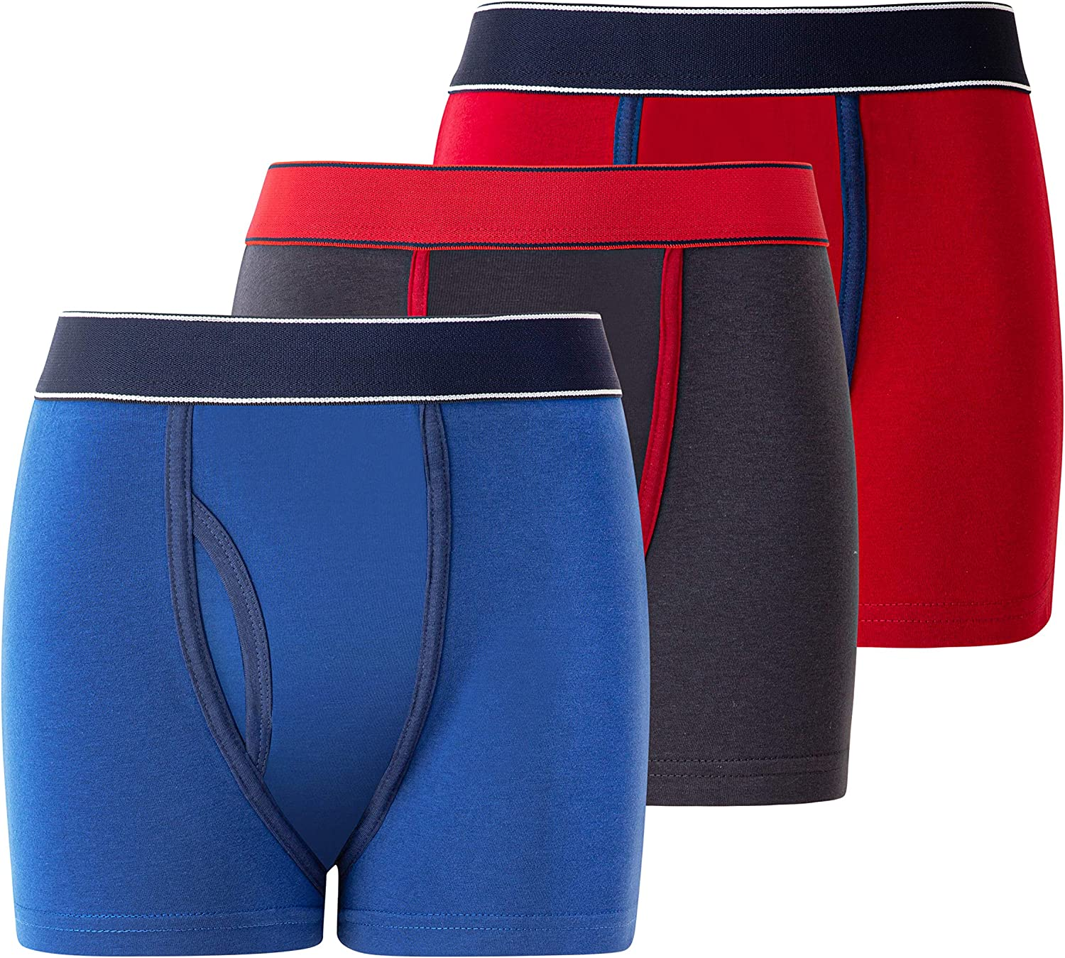 panzy 6//12 Pairs of Boys Boxer Trunks Shorts Quality Underwear Boxers with Keyhole
