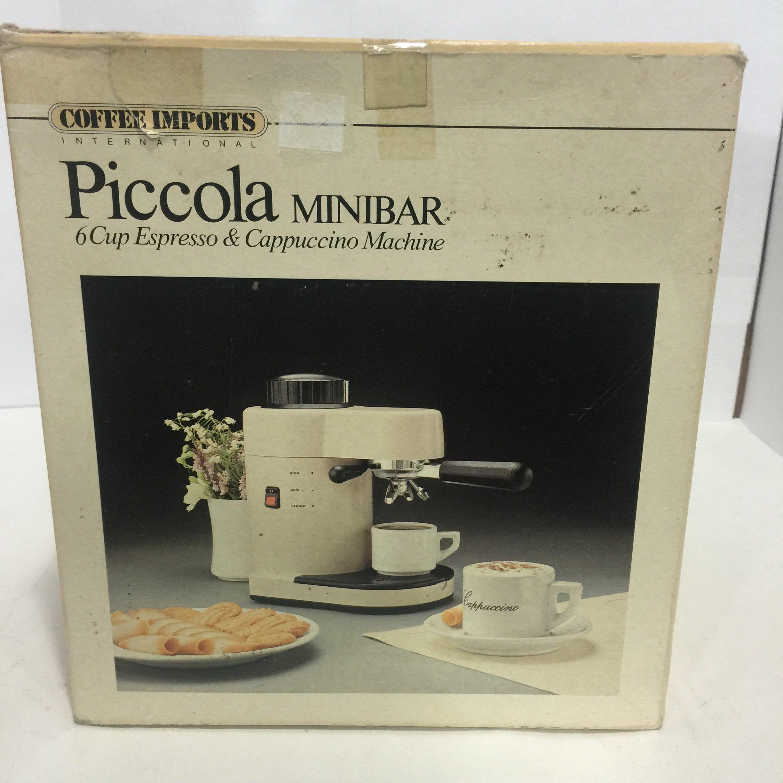 PICCOLA MINIBAR/ 6 Cups Espresso & Cappuccino Machine by Coffee Import