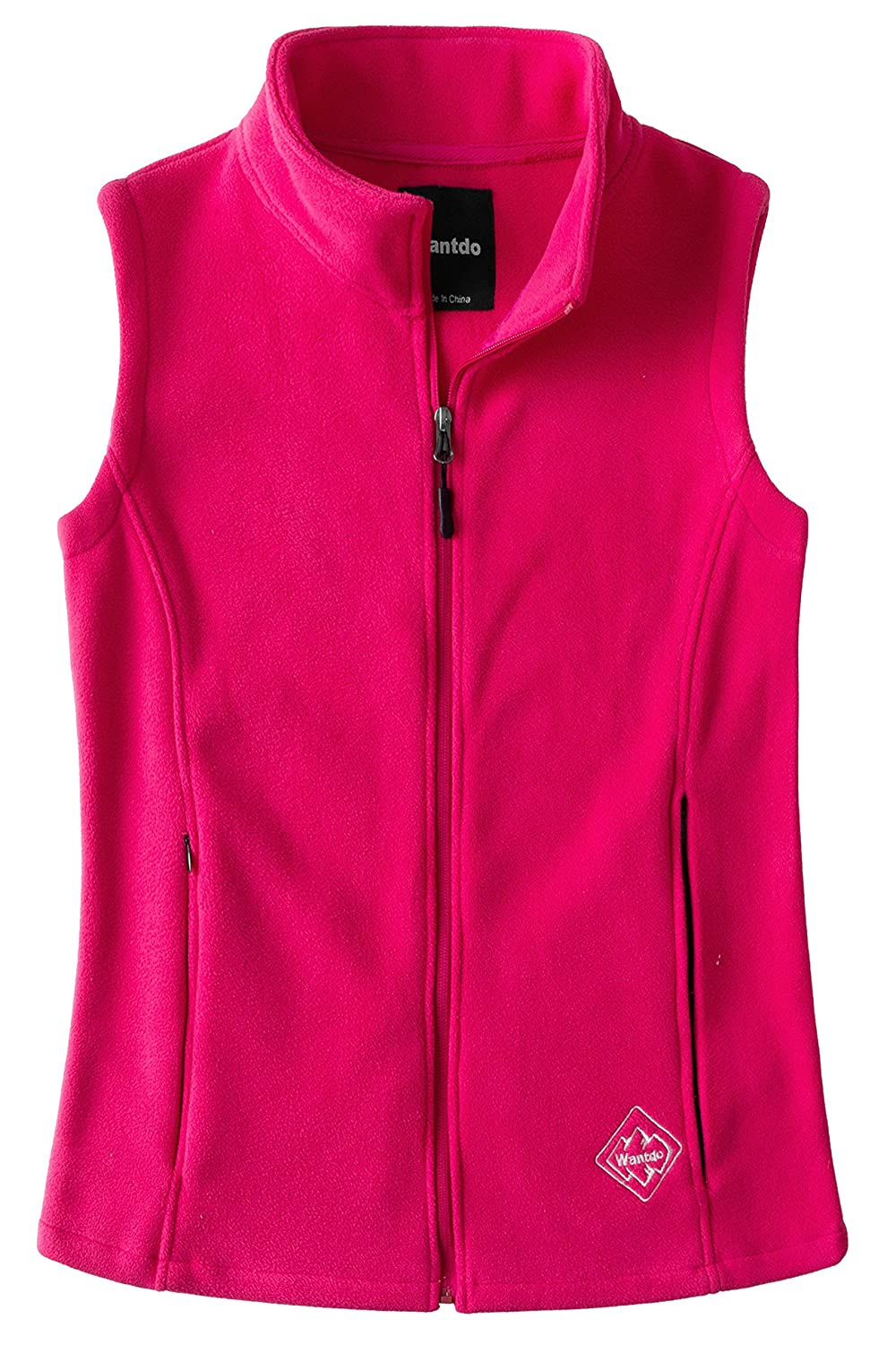 Wantdo Women's Fleece Outdoor Vest Casual Full Zip Outfit Gilet WDHW664