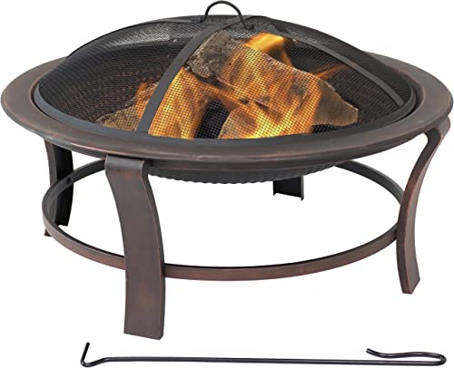 Sunnydaze Elevated Round Fire Pit Bowl
