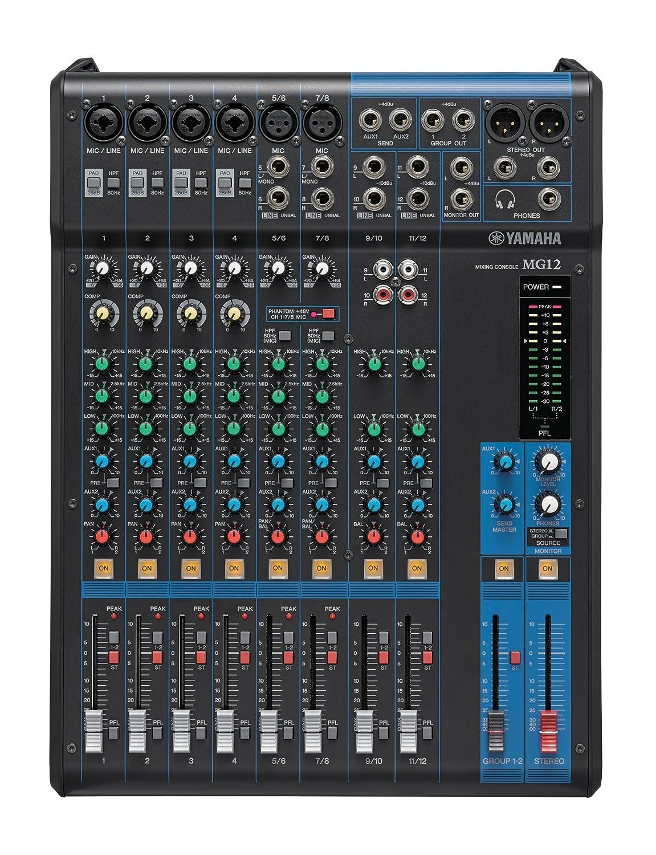 Yamaha MG12XU 12-Input 4-Bus Mixer with Effects Yamaha PAC