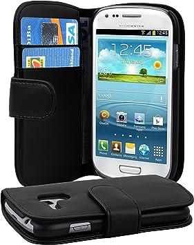 Cadorabo Funda Libro para Samsung Galaxy S3 Mini en Negro DE Caviar: Amazon.es: Electrónica