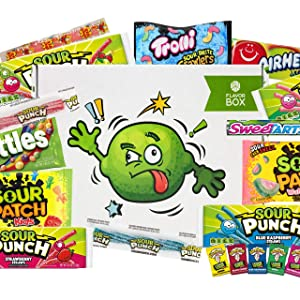 Sour Candy Lovers Flavor Box (36 count) - Assorted sour candies makes a great gift box or care package