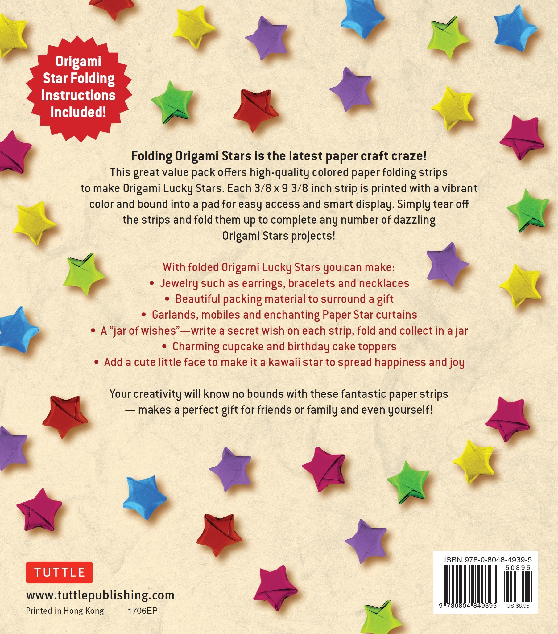 Amazon origami stars papers 1000 paper strips in assorted amazon origami stars papers 1000 paper strips in assorted colors 10 colors 1000 sheets easy instructions for origami lucky stars 9780804849395 jeuxipadfo Choice Image