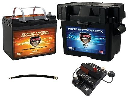 Amazon.com: Trolling Motor Kit de batería: vmax857 12 V ...