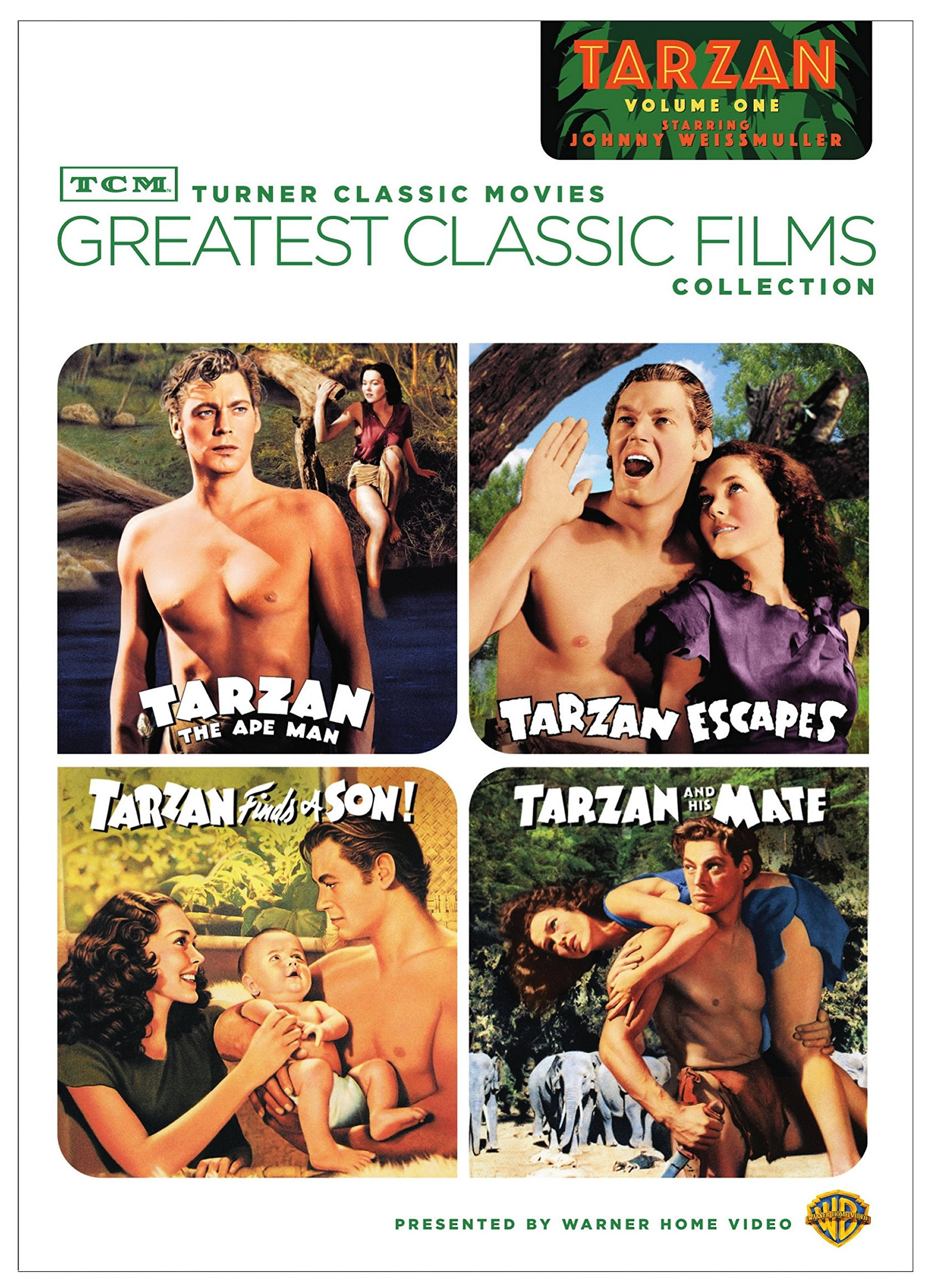 Greatest classic Films Collection: Tarzan - Volume one (Tarzan the Ape Man / Tarzan Escapes / Tarzan Finds a Son! / Tarzan and His Mate) by Warner Bros