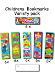 Childrens Bookmarks Variety Pack - 36 Bookmarks - 6 Designs - Great For School Rewards & Prizes