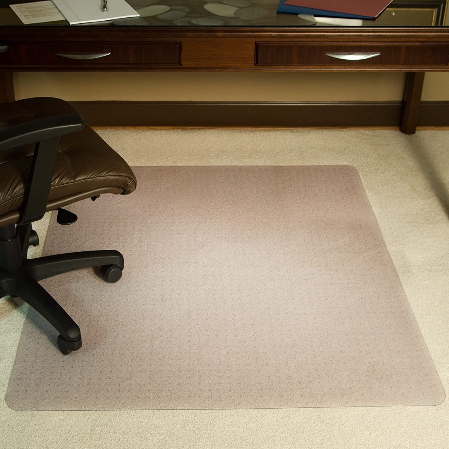 Amazon ES Robbins Rectangle Vinyl Chair Mat for Extra High