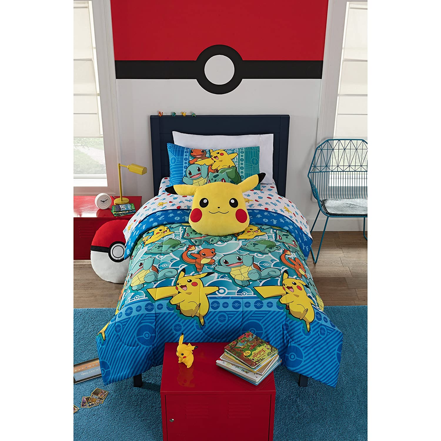Pokémon, First Starters Twin Bed in a Bag Set, 64 x 86, Multi Color Pokémon 64 x 86 The Northwest Company 1POK808000002WMT