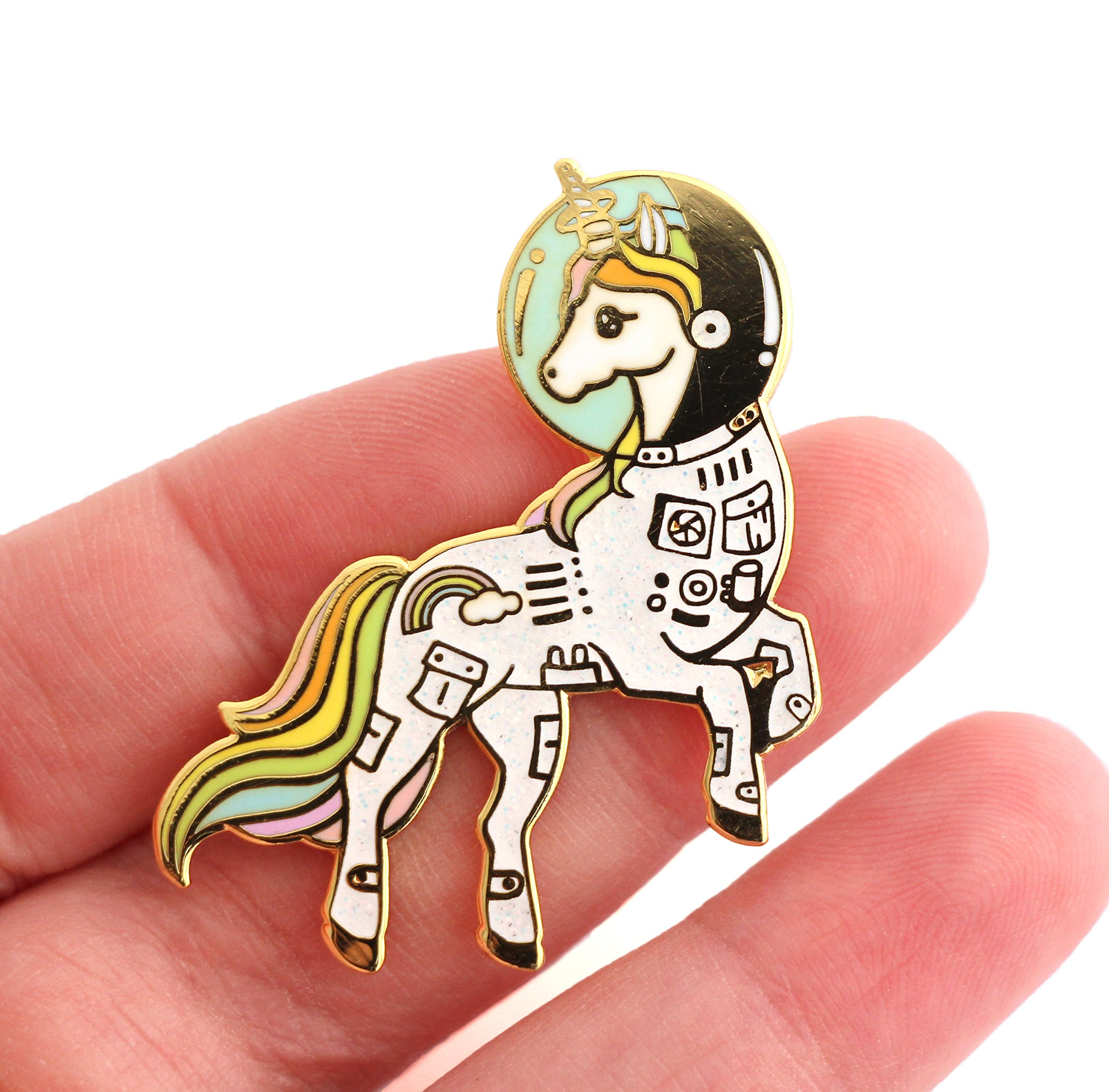 Unicorn Enamel Pin Astronaut Space Unicorn In a Suit Colorful Lapel Pin 4