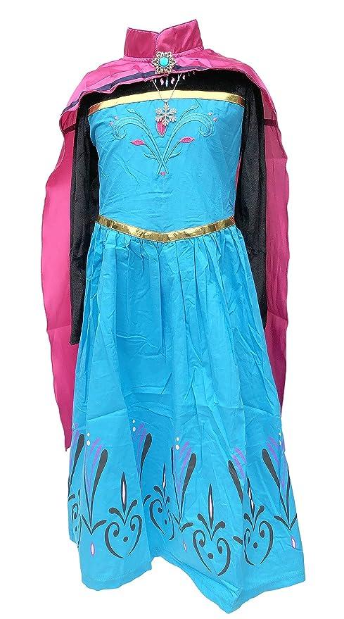 b40d260dde80 La Señorita Vestito Elsa Frozen abito Incoronazione costume Principessa +  Frozen Collana (4-5