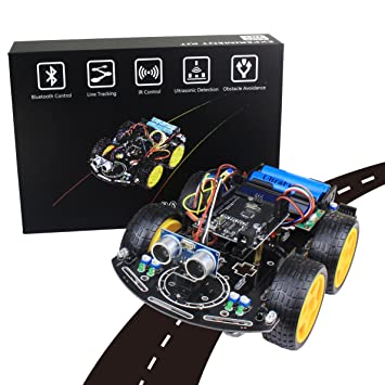 Junelectron arduino smart robot car learning project uno kit junelectron arduino smart robot car learning project uno kit seguimiento de lnea prevencin de malvernweather Choice Image