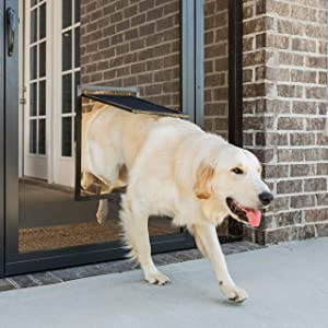PetSafe Pet Screen Door - Dog and Cat Door for Screen Door, Window and Porch Use