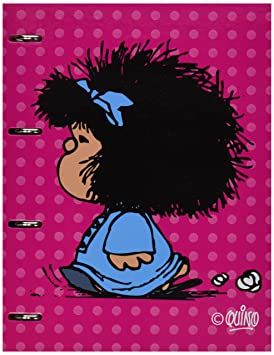 Mafalda 88191167 - Carpetas con recambio de hojas con diferentes diseños escolares, A4